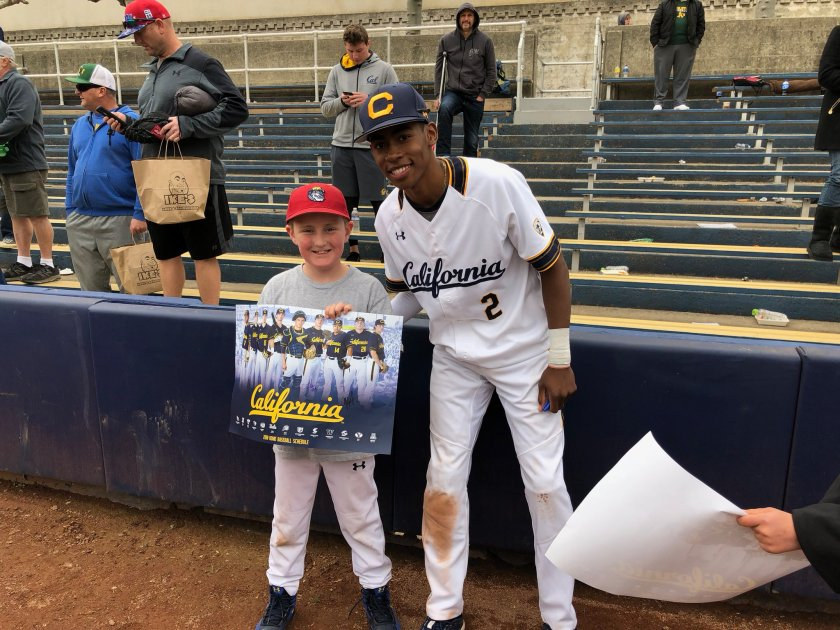 Great time at the @CalBaseball…