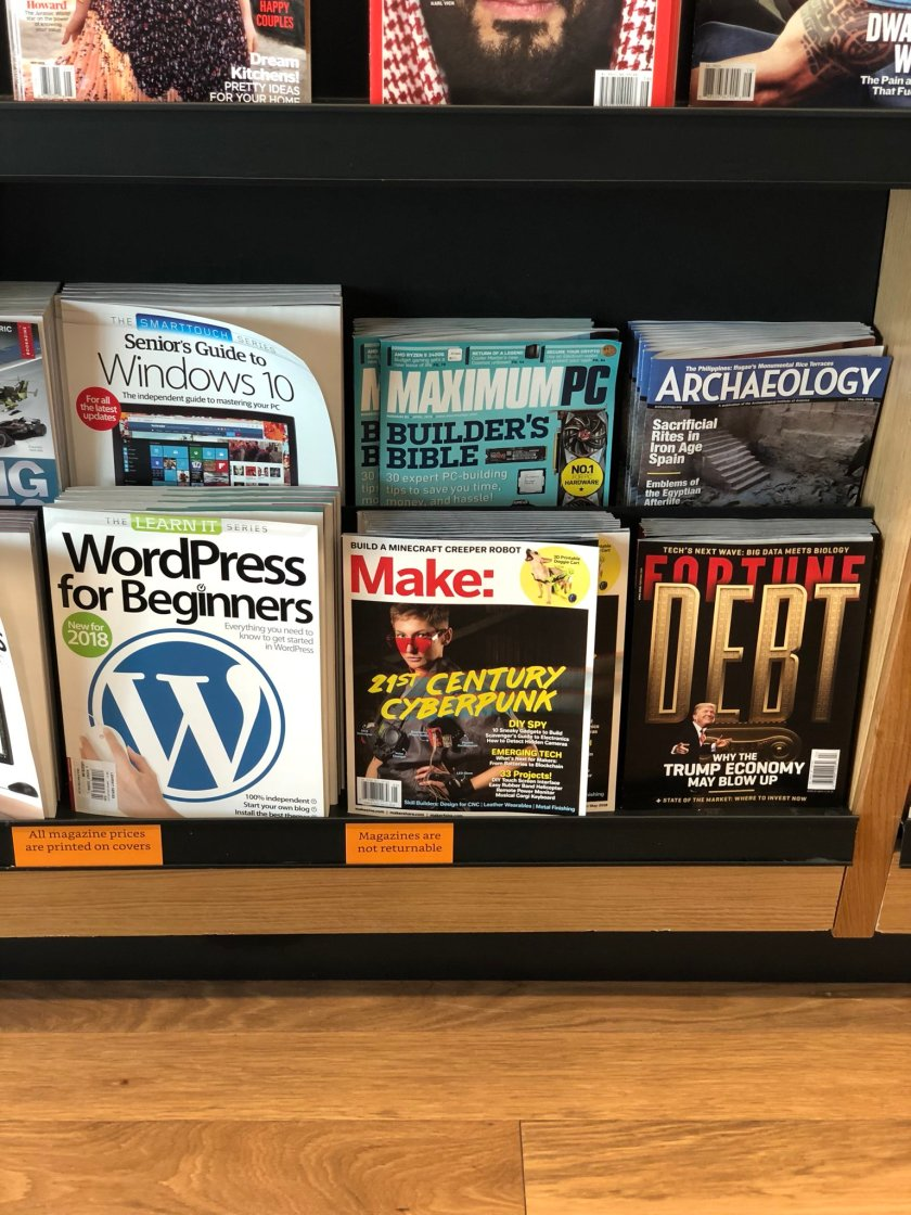 At the Amazon Books store.…