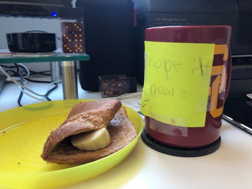 Daughter made me a sando.…