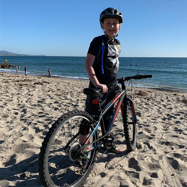 We rode all the way to the ocean today!