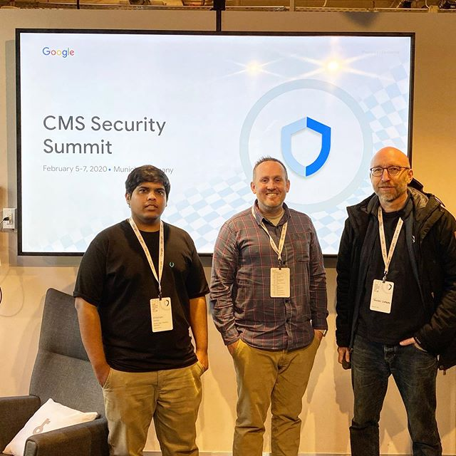 Had the awesome opportunity to attend and speak at the CMS Security Summit at Google Munich this week. Awesome time with a great group of people.