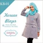 Jaket Terbaru Jaket Wanita Muslimah Blazer KB01