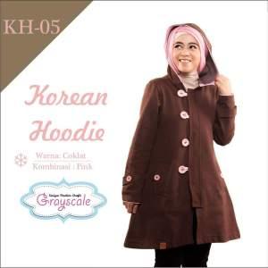 Reseller Jaket Grayscale Korean Hoodie Muslimah Wanita