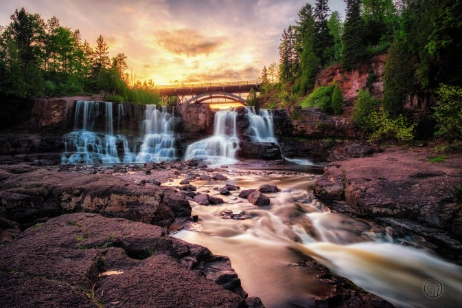Sunset at Gooseberry Falls State Park