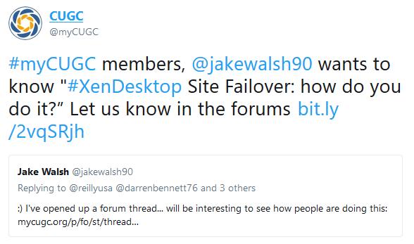 XenDesktop Site Failover - asking the community      Jake Walsh
