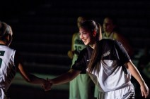 Women's Basketball Players Entering the Court