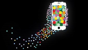 dotted phone slight glow and texture