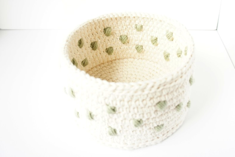 Polka Dot Crochet Basket by JaKiGu