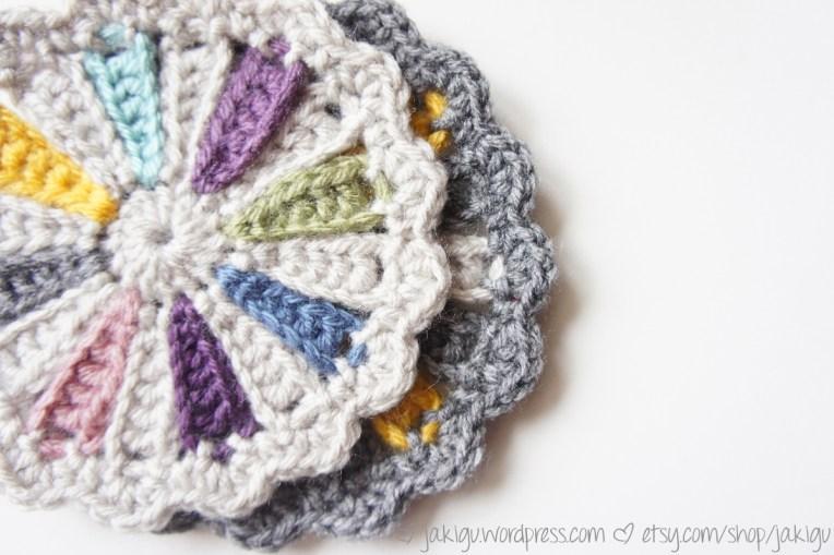 Pinwheel Coaster Free Crochet Pattern by JaKiGu