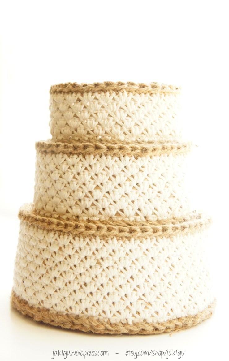 Crochet Stacking Baskets, a Crochet Pattern