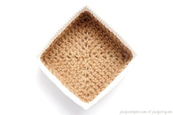 Square Jute and Cotton Stacking Baskets | jakigu.com crochet pattern