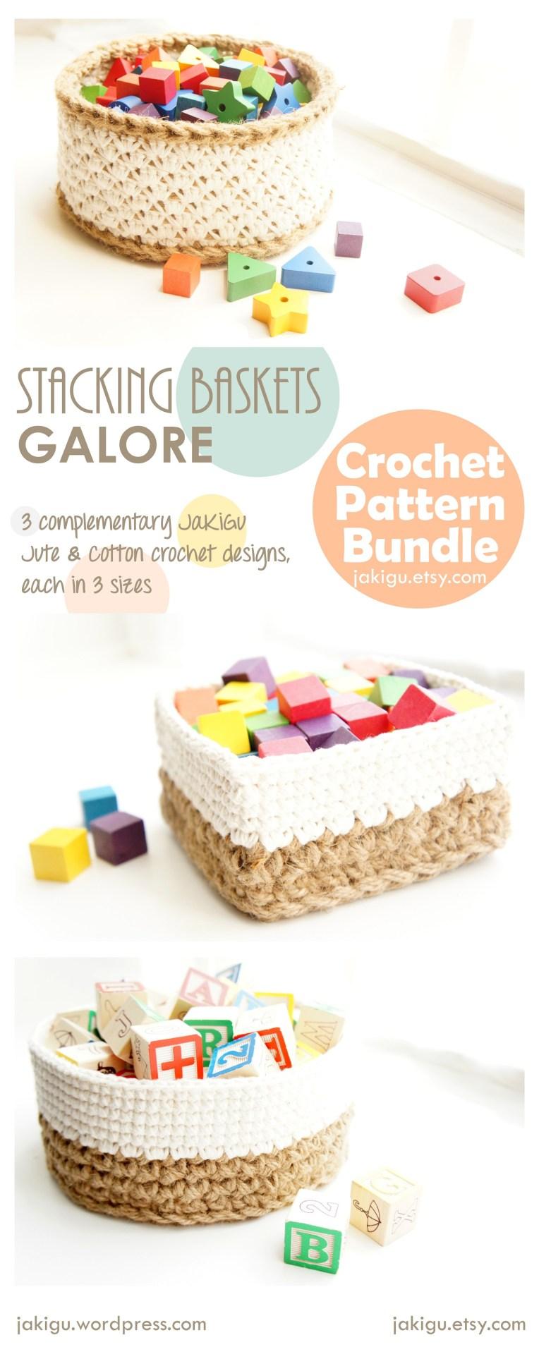 JaKiGu Crochet Baskets Pattern Bundle