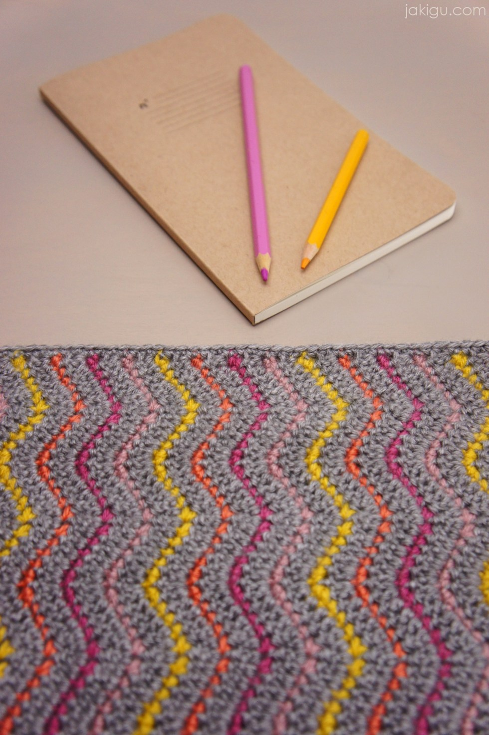 Easy Crochet Book Cover : Work in progress journal cover or clutch jakigu