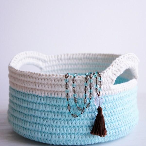 Modern crochet baskets - easy crochet pattern