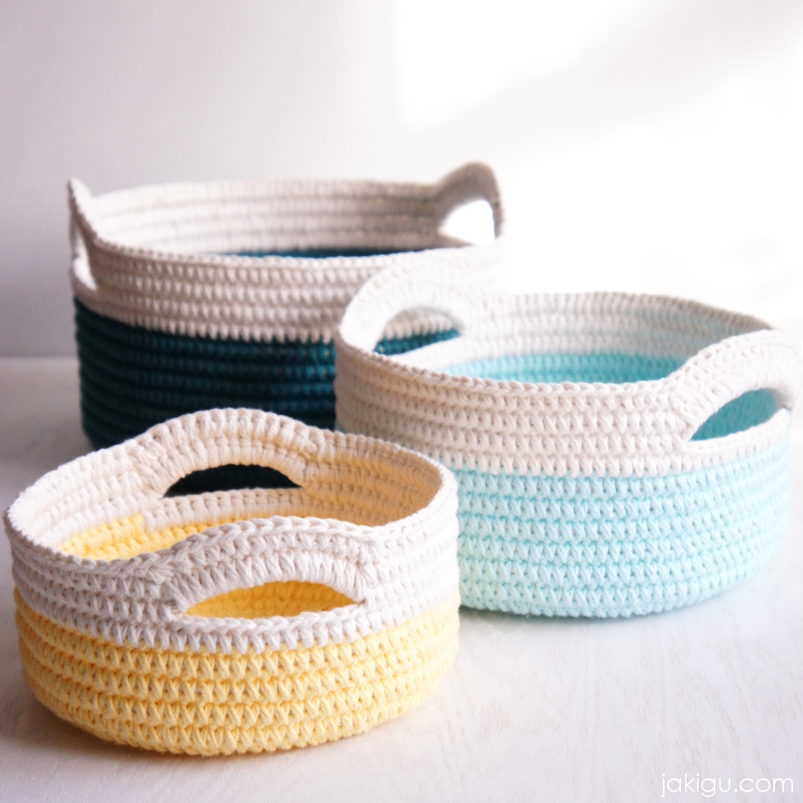 Sturdy Crochet Baskets With Handles Jakigucom