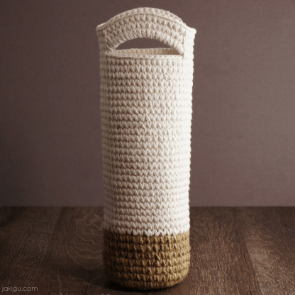 Jute and Cotton Wine Bottle Carrier by jakigu.com