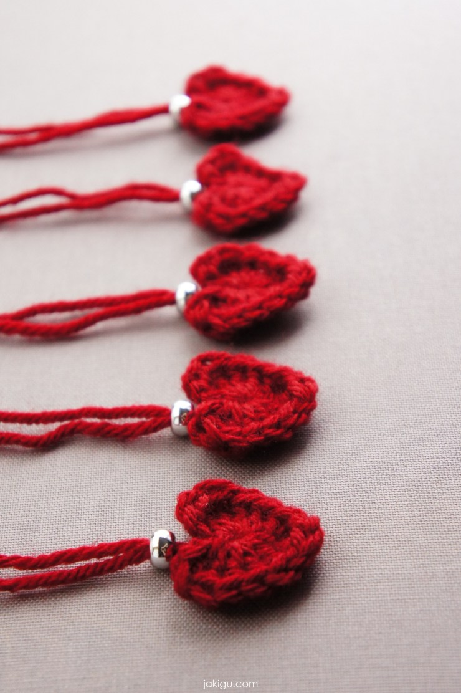 One minute crochet heart pattern | jakigu.com