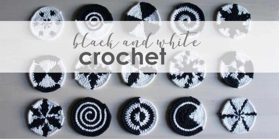 jakigu.com   black and white crochet motifs