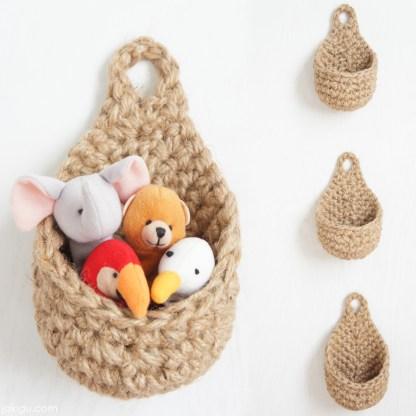 jakigu.com | Raindrop Hanging Basket | crochet pattern
