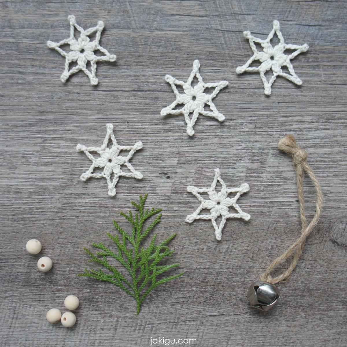 jakigu.com | snowflake 2019 | free crochet pattern