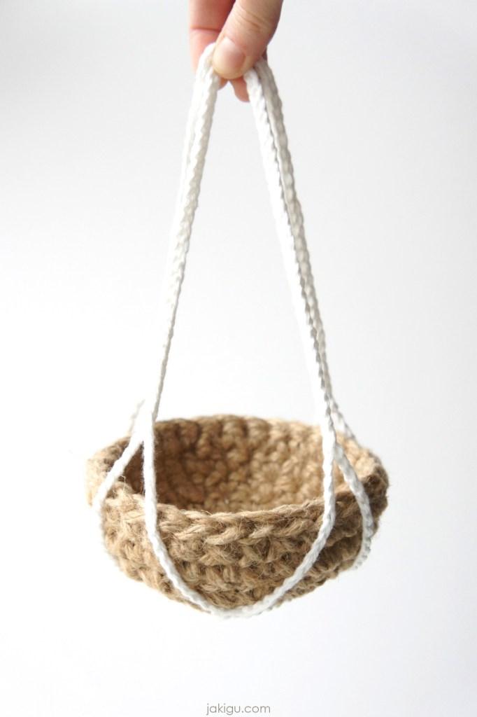 jute hanging basket | jakigu.com