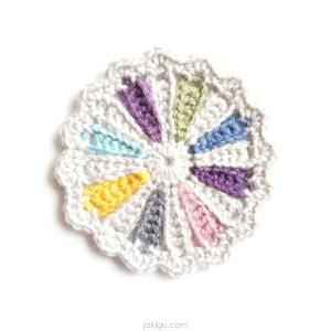pinwheel coaster crochet pattern | jakigu.com