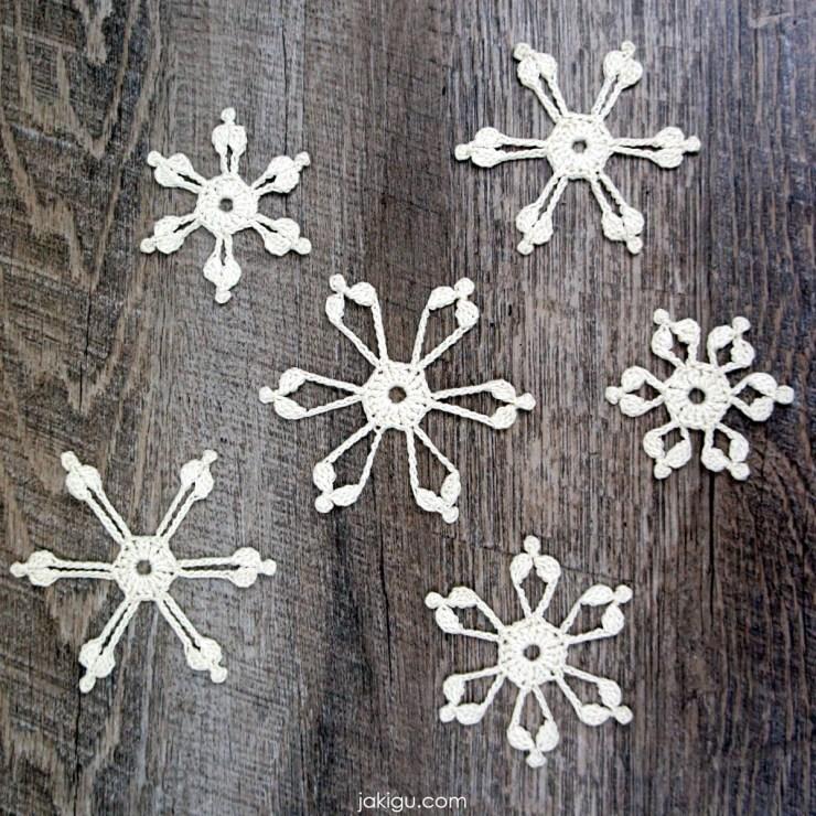 crochet snowflake 2020 | jakigu.com