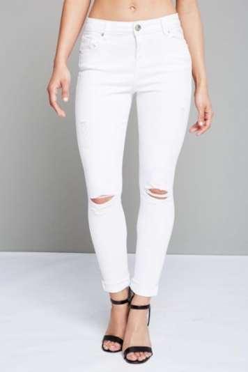 Parisian ripped knee skinny jeans