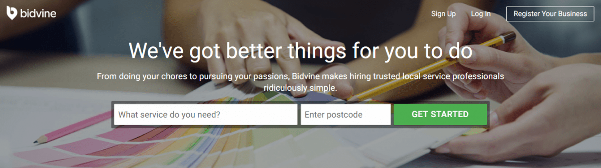 A New Way To Find A Local Professional with Bidvine