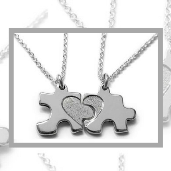 Silver 'My Mummy and Me' Jigsaw Necklace Giveaway!