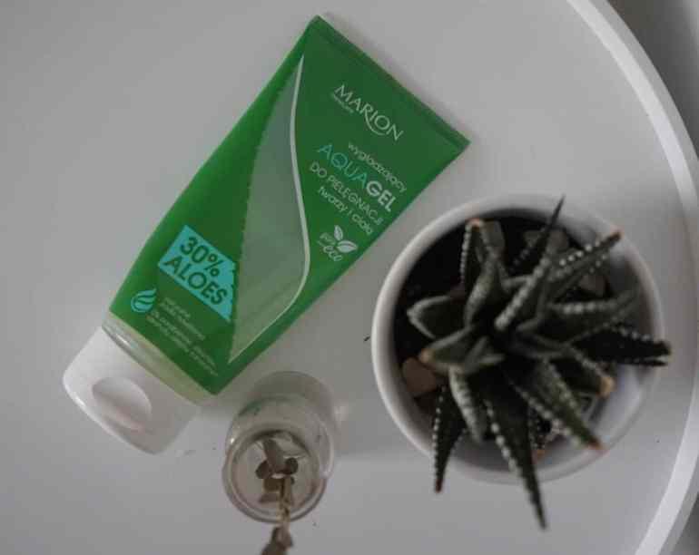 Marion, 30% Aloes, aqua gel do pielęgnacji twarzy i ciała
