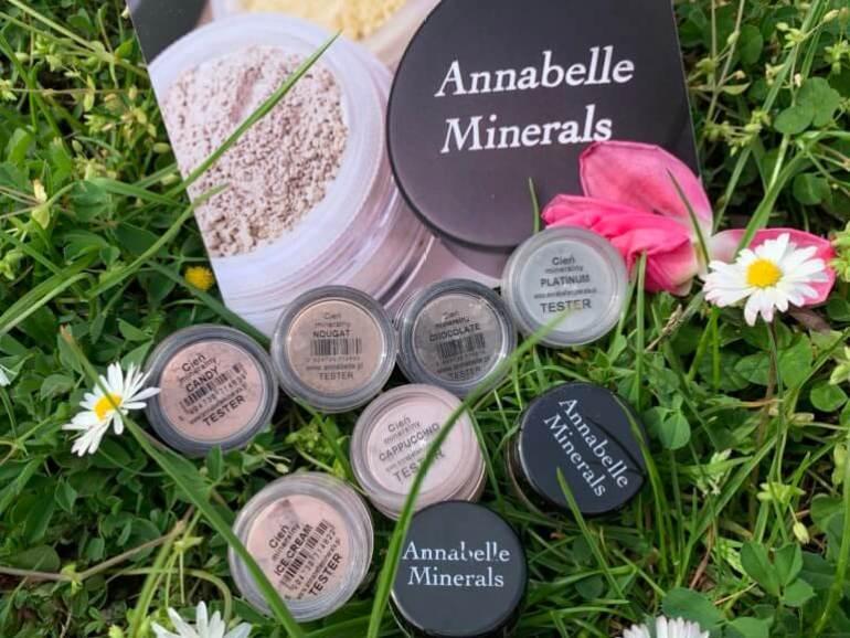 Annabelle Minerals, cienie mineralne, swatche