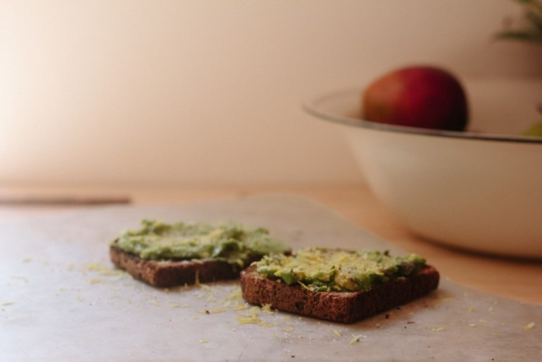 Celery and pumpkin seed pate bread paste