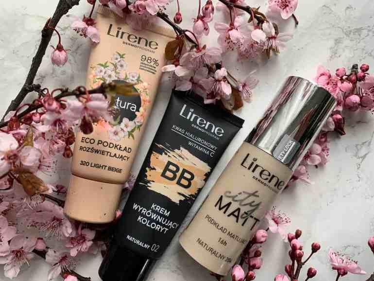 Lirene, three light skin foundations