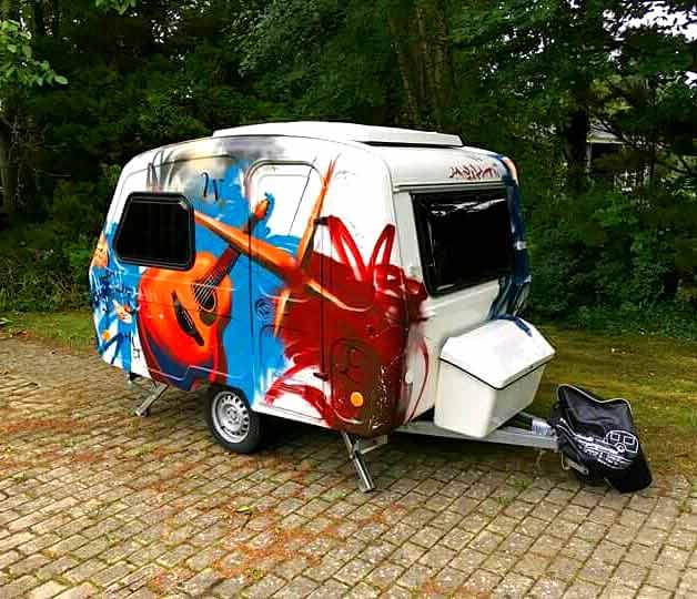 Graffiti campingvogn