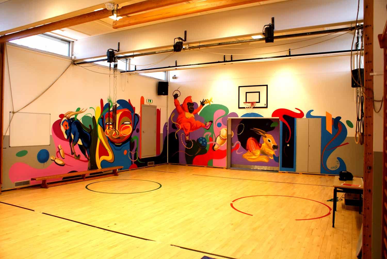 Graffiti kunstner maler skole