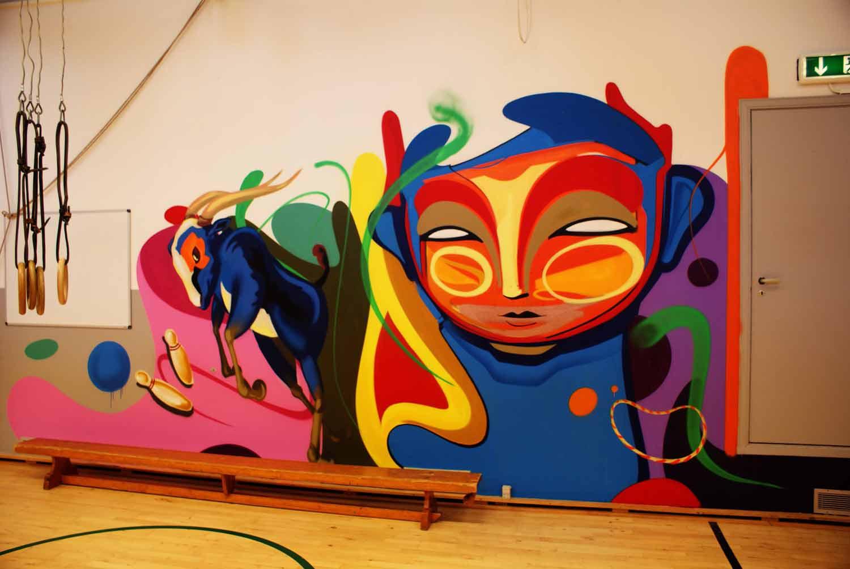 Graffiti kunst udsmykning