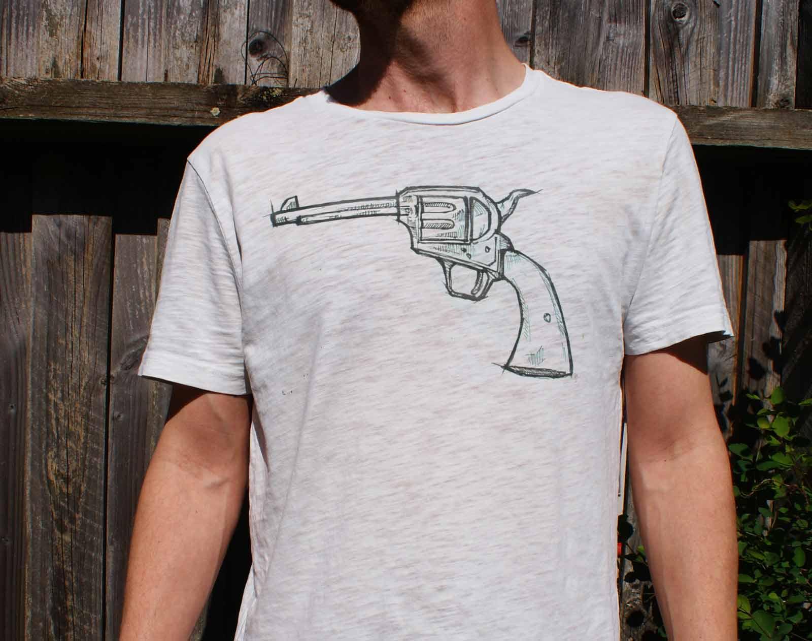 Tegning t-shirt