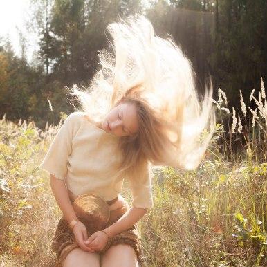 Dívka z Egtvedu, tanec slunce. Foto D. Martinová.