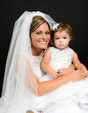 adorable infant daughter wedding picture
