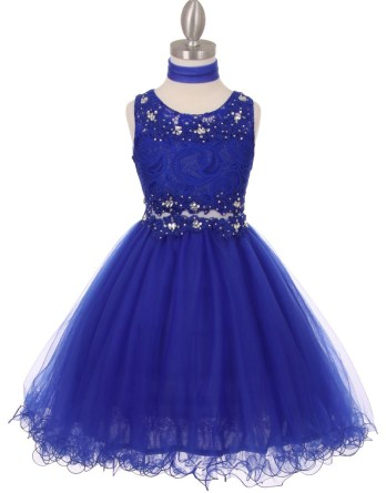 beautiful blue lace girls dresses for all special occasions.