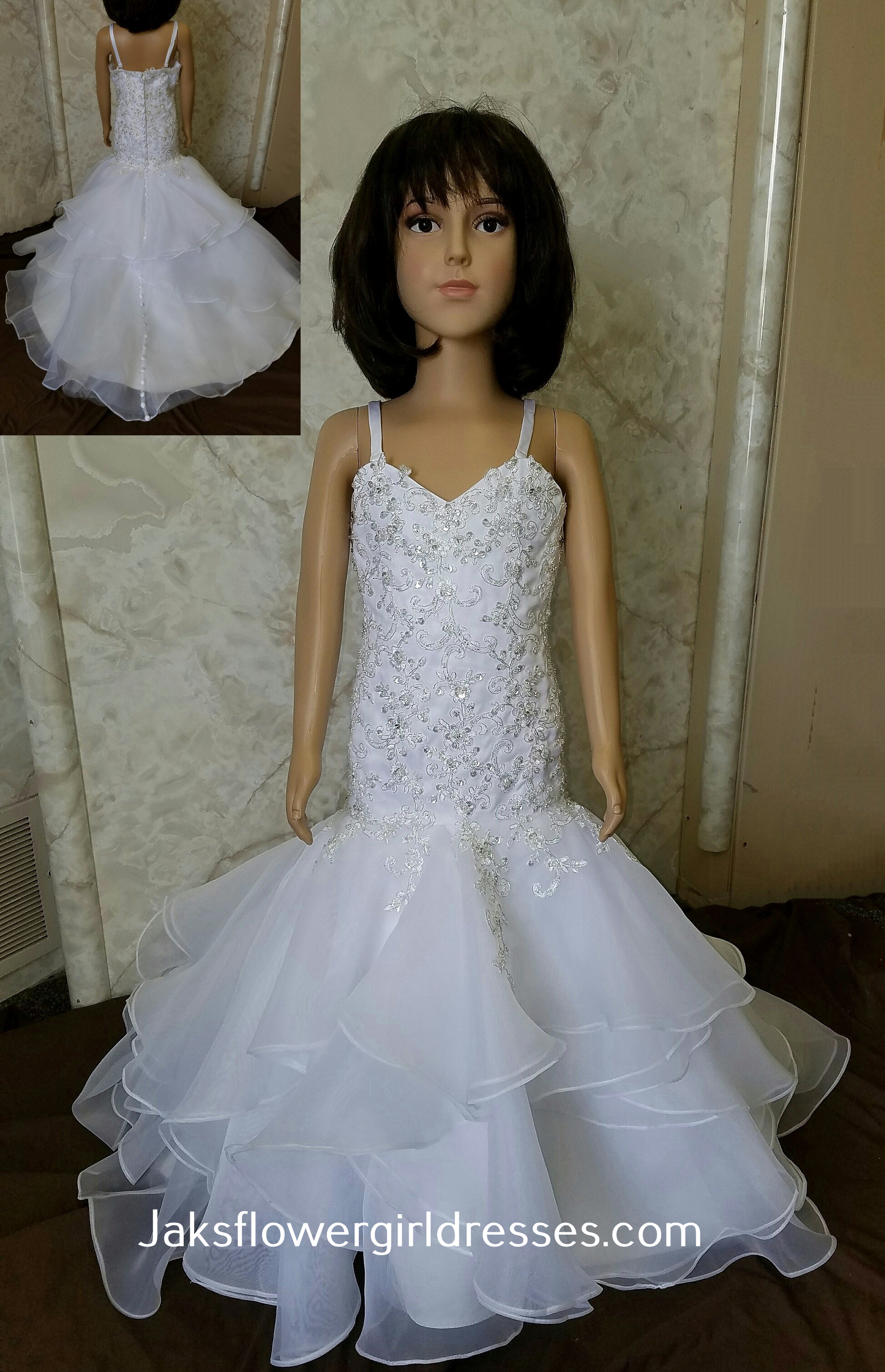 ruffle mermaid flower girl dress