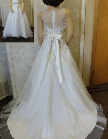 miniature bride dresses with train