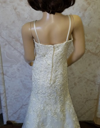 Ivory lace miniature wedding dress