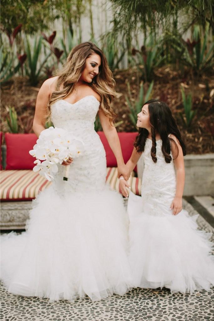 find a flower girl dress to match my Designer wedding dress