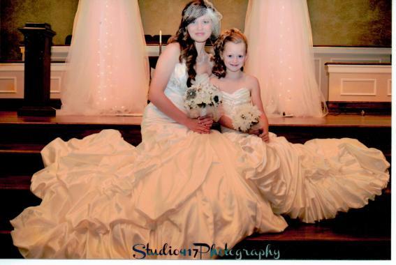 Matching Miniature Bride Dress from Jaks Bridal.