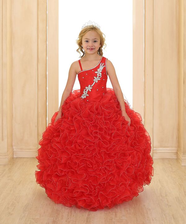 Childrens ball gowns. Cascading ruffled ball gown will be eye ...