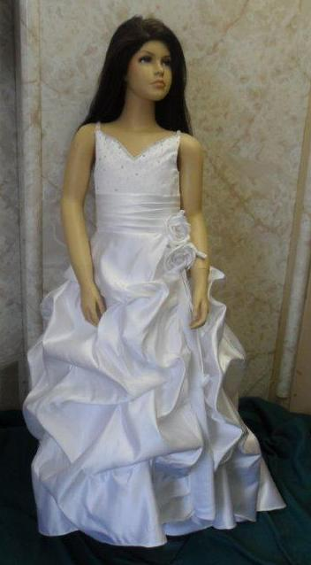 flower girl dress with pickup skirt