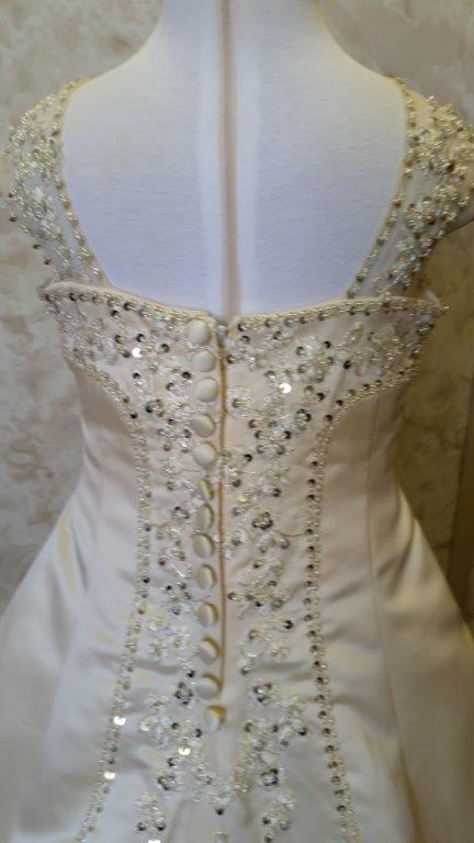 champagne miniature wedding dress