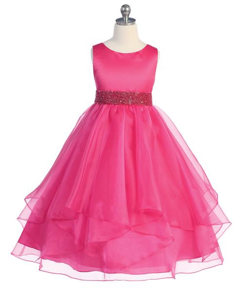 Fuchsia girls easter dress